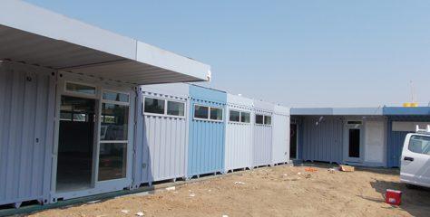 Un centre d'hébergement à base de containers pour les sans-abris en Californie
