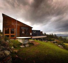 Une maison container luxueuse en Tasmanie